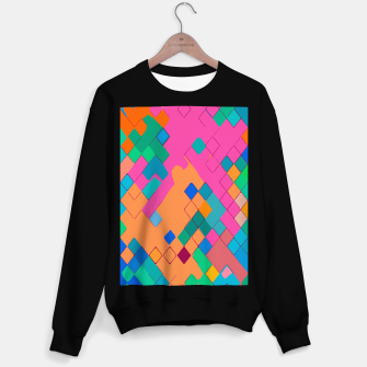 Miniaturka geometric square pixel pattern abstract in pink orange green Sweater regular, Live Heroes