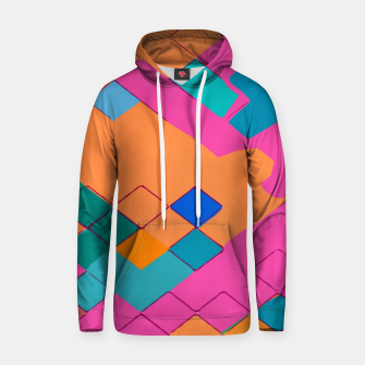 Imagen en miniatura de geometric square pixel pattern abstract in pink orange green Hoodie, Live Heroes