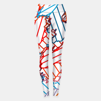 Thumbnail image of fractal geometric line abstract background in red blue yellow Leggings, Live Heroes