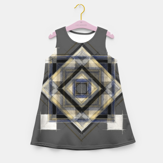 Thumbnail image of Hand Made Edited Pencil Geometry in Grey Girl's summer dress, Live Heroes