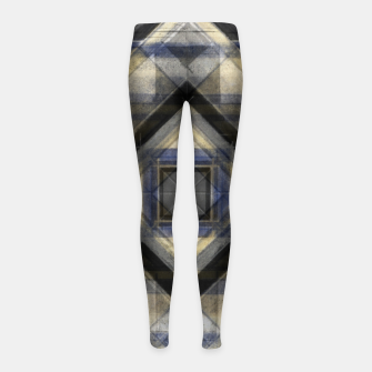 Thumbnail image of Hand Made Edited Pencil Geometry in Grey Girl's leggings, Live Heroes