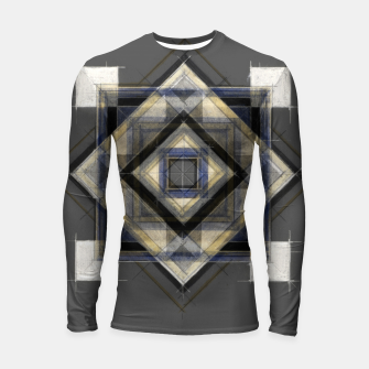 Thumbnail image of Hand Made Edited Pencil Geometry in Grey Longsleeve rashguard , Live Heroes