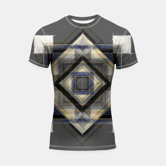 Thumbnail image of Hand Made Edited Pencil Geometry in Grey Shortsleeve rashguard, Live Heroes