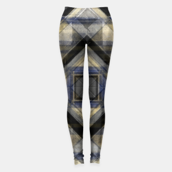 Miniaturka Hand Made Edited Pencil Geometry in Grey Leggings, Live Heroes