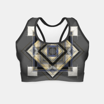 Thumbnail image of Hand Made Edited Pencil Geometry in Grey Crop Top, Live Heroes