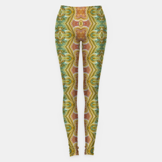 Miniaturka Vintage Ornate Geometric Pattern Leggings, Live Heroes