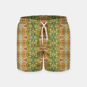 Miniaturka Vintage Ornate Geometric Pattern Swim Shorts, Live Heroes