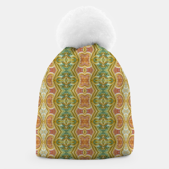 Thumbnail image of Vintage Ornate Geometric Pattern Beanie, Live Heroes