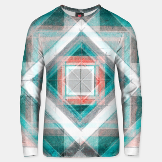 Thumbnail image of Pencil Geometry in Light Blue and Red Unisex sweater, Live Heroes