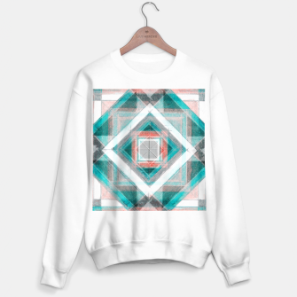 Miniaturka Pencil Geometry in Light Blue and Red Sweater regular, Live Heroes