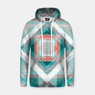 Thumbnail image of Pencil Geometry in Light Blue and Red Hoodie, Live Heroes