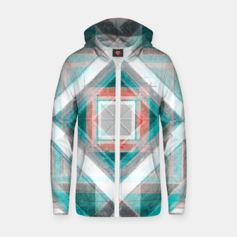 Thumbnail image of Pencil Geometry in Light Blue and Red Zip up hoodie, Live Heroes