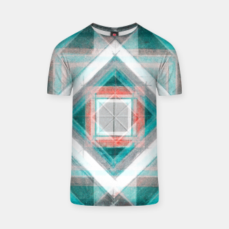 Thumbnail image of Pencil Geometry in Light Blue and Red T-shirt, Live Heroes