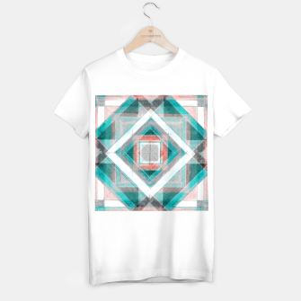 Thumbnail image of Pencil Geometry in Light Blue and Red T-shirt regular, Live Heroes