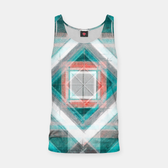 Thumbnail image of Pencil Geometry in Light Blue and Red Tank Top, Live Heroes