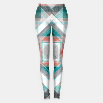 Thumbnail image of Pencil Geometry in Light Blue and Red Leggings, Live Heroes