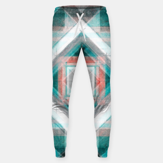 Thumbnail image of Pencil Geometry in Light Blue and Red Sweatpants, Live Heroes