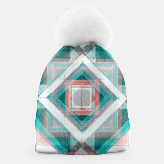 Thumbnail image of Pencil Geometry in Light Blue and Red Beanie, Live Heroes