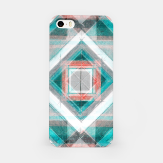 Miniatur Pencil Geometry in Light Blue and Red iPhone Case, Live Heroes