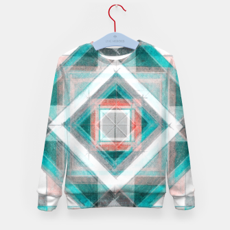 Thumbnail image of Pencil Geometry in Light Blue and Red Kid's sweater, Live Heroes