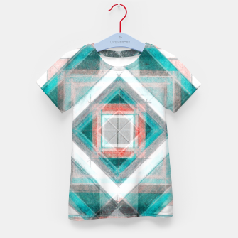 Miniatur Pencil Geometry in Light Blue and Red Kid's t-shirt, Live Heroes