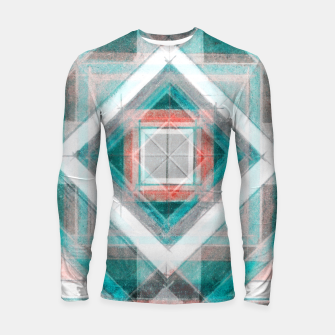 Miniatur Pencil Geometry in Light Blue and Red Longsleeve rashguard , Live Heroes