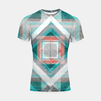 Miniatur Pencil Geometry in Light Blue and Red Shortsleeve rashguard, Live Heroes