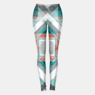Miniatur Pencil Geometry in Light Blue and Red Leggings, Live Heroes