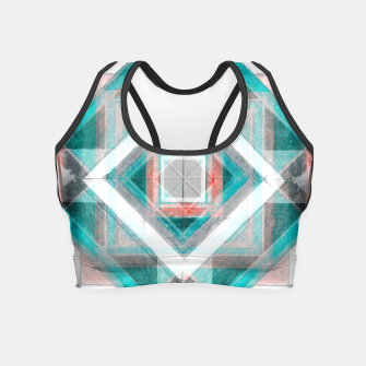 Thumbnail image of Pencil Geometry in Light Blue and Red Crop Top, Live Heroes