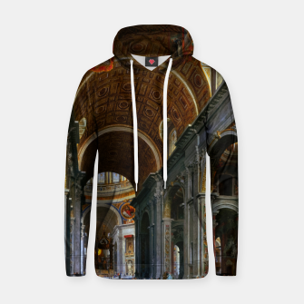 Miniaturka Interior of St. Peter's Basilica, Rome by Giovanni Paolo Panini Hoodie, Live Heroes