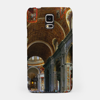 Miniaturka Interior of St. Peter's Basilica, Rome by Giovanni Paolo Panini Samsung Case, Live Heroes