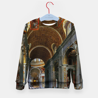 Thumbnail image of Interior of St. Peter's Basilica, Rome by Giovanni Paolo Panini Kid's sweater, Live Heroes