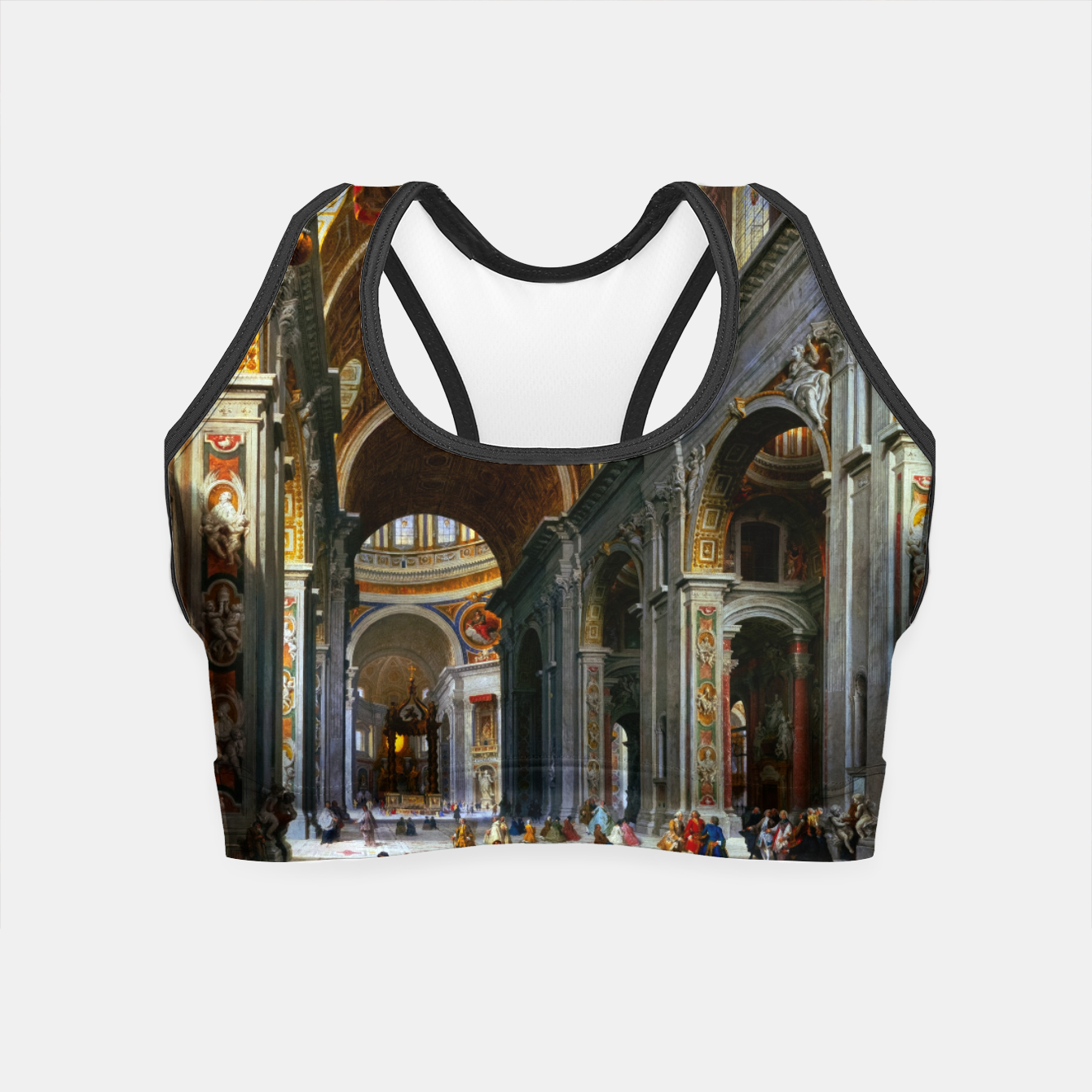 Image of Interior of St. Peter's Basilica, Rome by Giovanni Paolo Panini Crop Top - Live Heroes