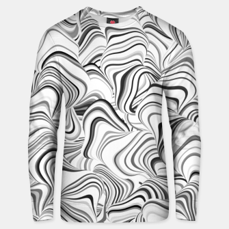 Miniatur Paths, black and white abstract curvy lines design Unisex sweater, Live Heroes