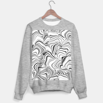 Thumbnail image of Paths, black and white abstract curvy lines design Sweater regular, Live Heroes