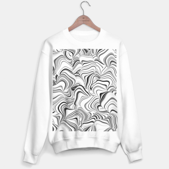 Miniatur Paths, black and white abstract curvy lines design Sweater regular, Live Heroes