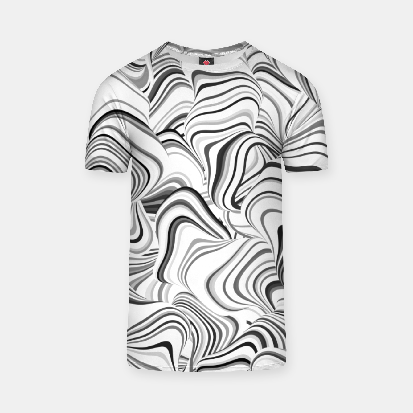 Image of Paths, black and white abstract curvy lines design T-shirt - Live Heroes