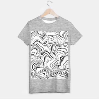 Thumbnail image of Paths, black and white abstract curvy lines design T-shirt regular, Live Heroes