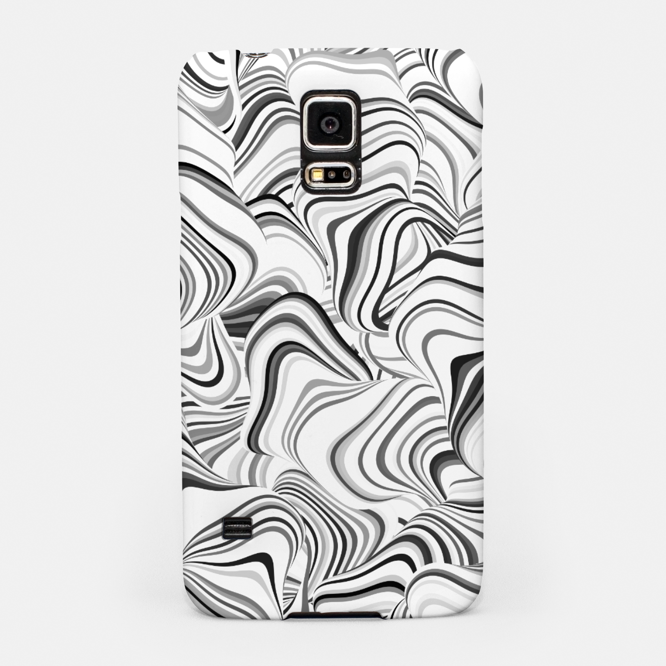 Image of Paths, black and white abstract curvy lines design Samsung Case - Live Heroes