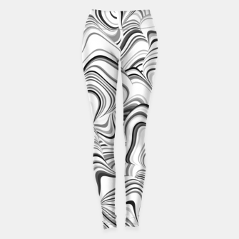 Thumbnail image of Paths, black and white abstract curvy lines design Leggings, Live Heroes