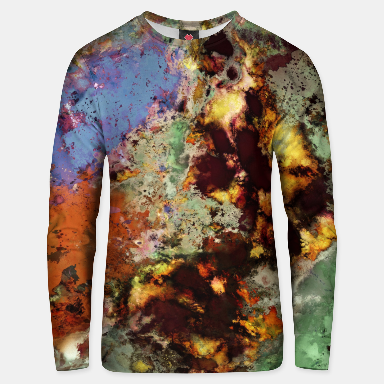Image of Elegantly eroded Unisex sweater - Live Heroes