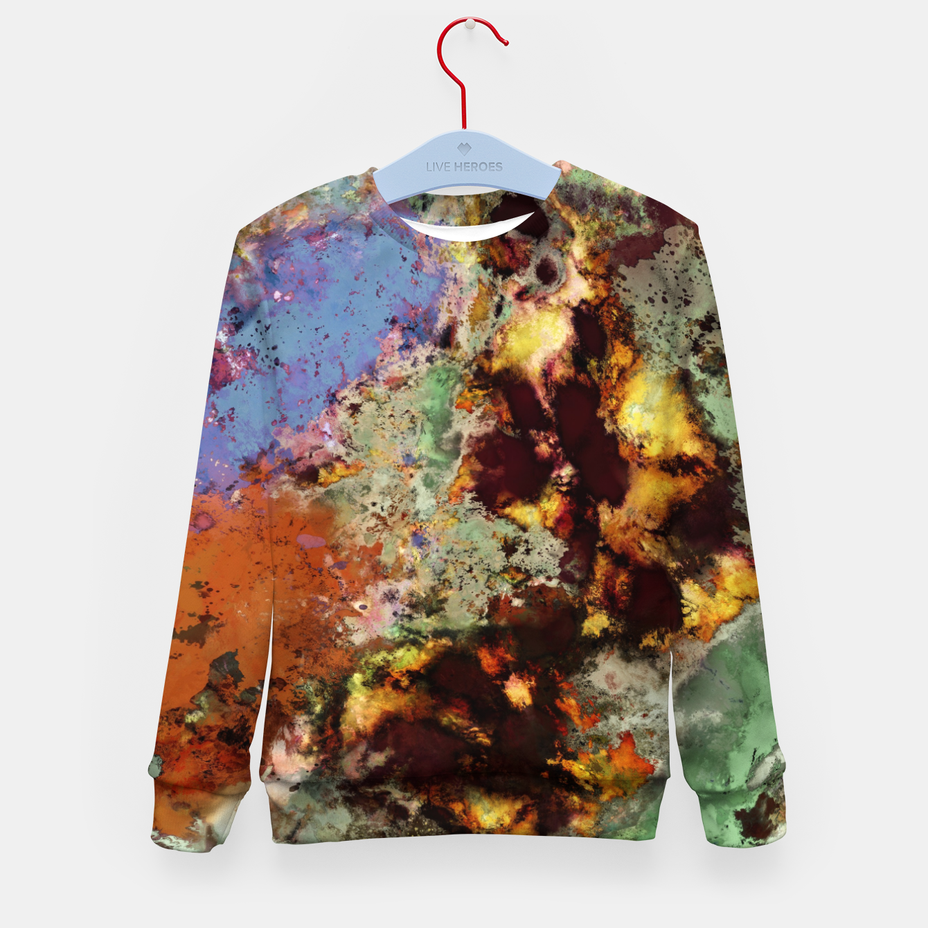 Image of Elegantly eroded Kid's sweater - Live Heroes