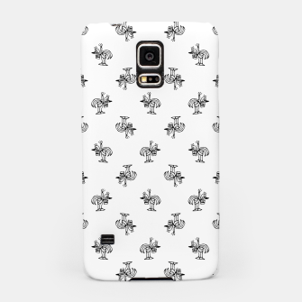 Miniatur Black and White Sketchy Birds Motif Pattern Samsung Case, Live Heroes