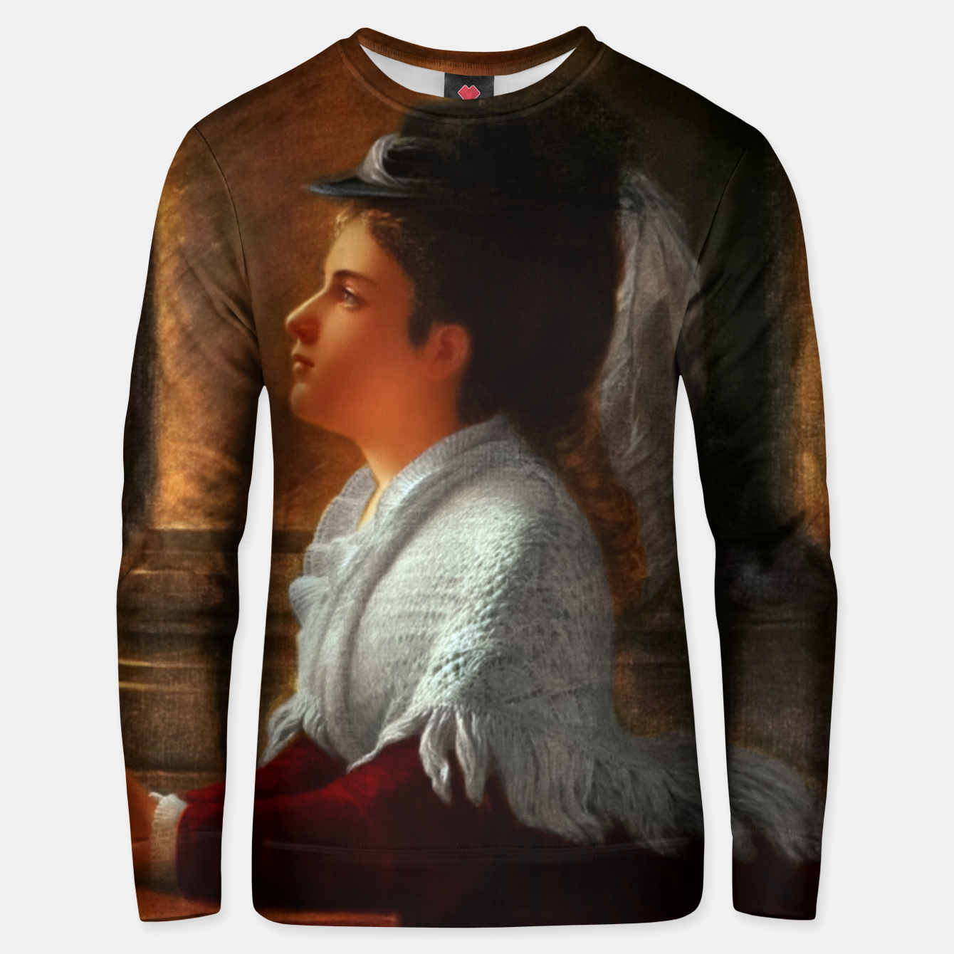 Image of Young Woman Praying In Church by Anton Thiele Unisex sweater - Live Heroes