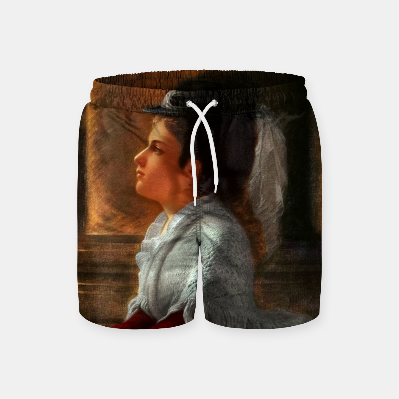 Image of Young Woman Praying In Church by Anton Thiele Swim Shorts - Live Heroes