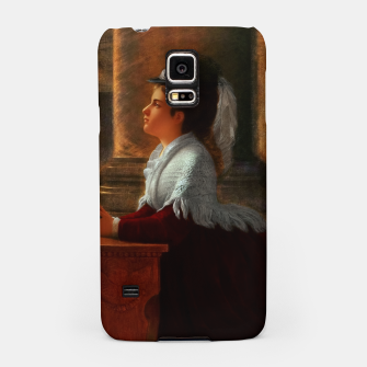 Thumbnail image of Young Woman Praying In Church by Anton Thiele Samsung Case, Live Heroes