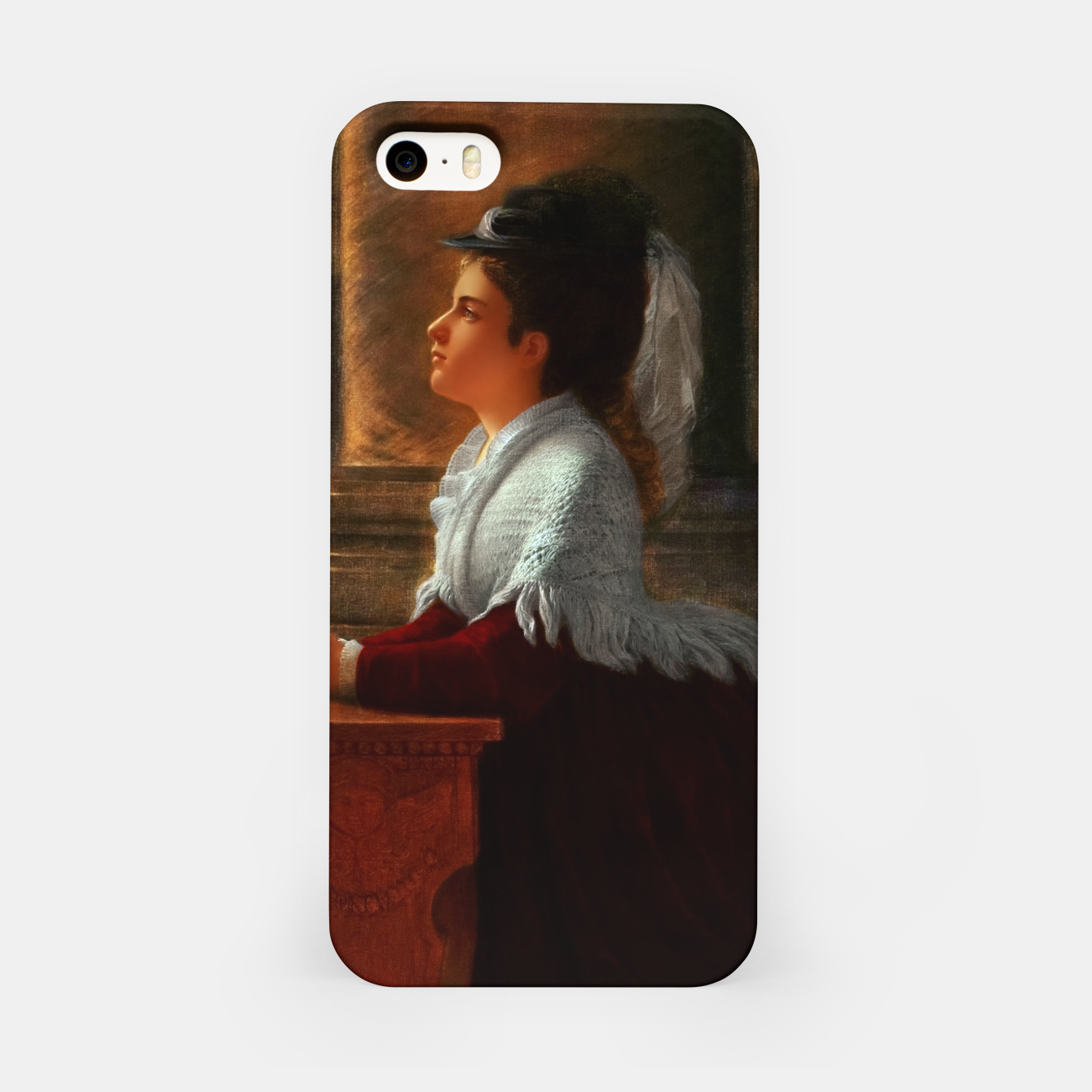 Image of Young Woman Praying In Church by Anton Thiele iPhone Case - Live Heroes
