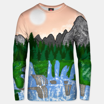 Miniatur Mountains & Whirlpools  Unisex sweater, Live Heroes