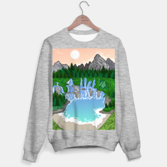 Miniatur Mountains & Whirlpools  Sweater regular, Live Heroes