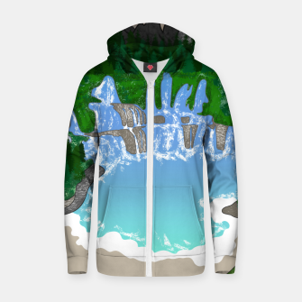 Miniatur Mountains & Whirlpools  Zip up hoodie, Live Heroes